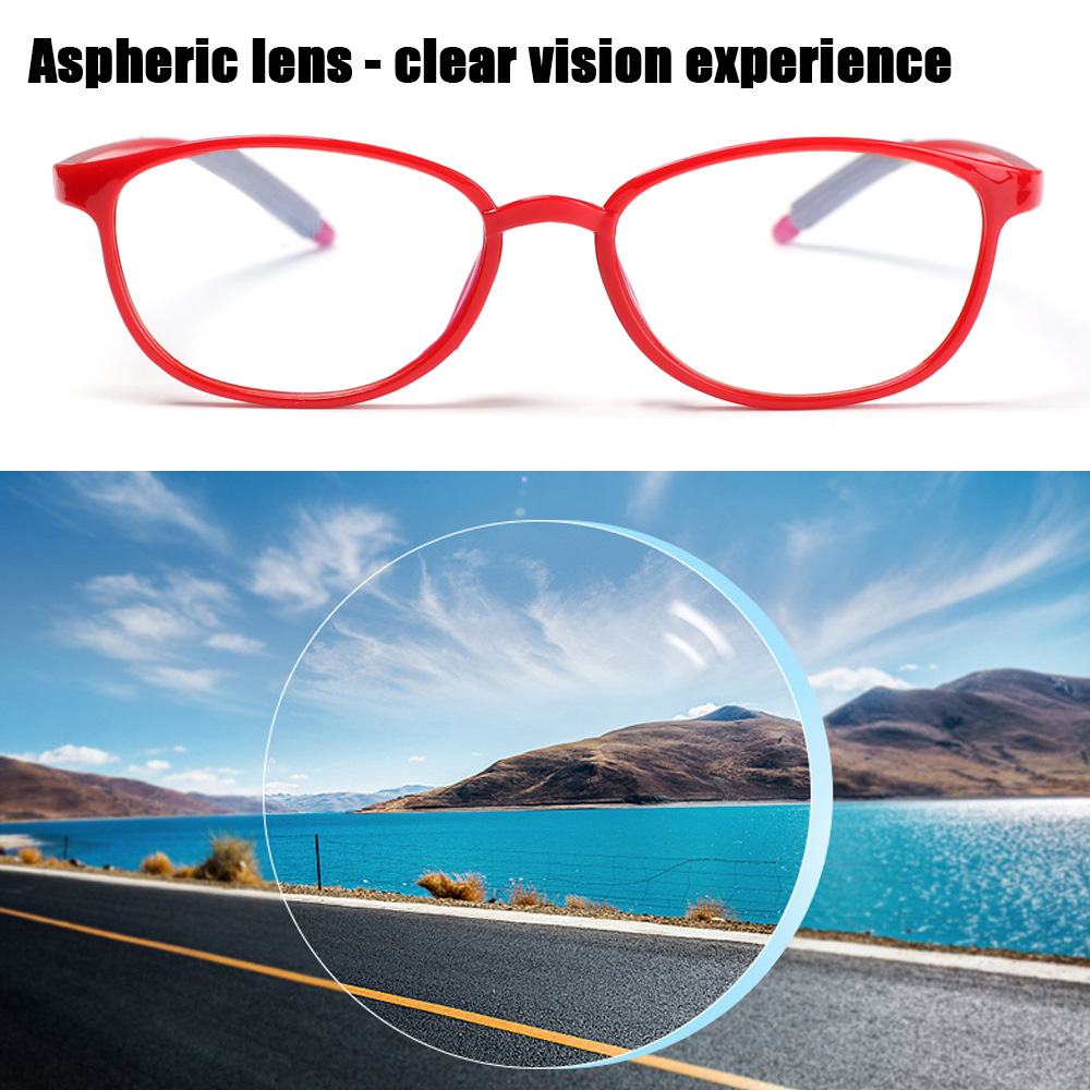 💋MAX Women Men Anti-Blue Light Eyeglasses Vintage Eye Protection Reading Glasses Portable Antifatigue Fashion Comfortable Ultra Light Frame/Multicolor