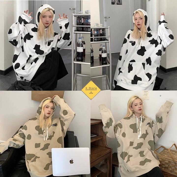 Áo Hoddie Bò Sữa X.Store - Áo Nỉ Hoodie Có Ảnh Thật Tự Chụp + Đánh Giá