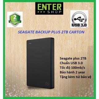 [Mã ELMSBC giảm 8% đơn 300K] Ổ cứng di động Seagate Backup Plus 2TB Hộp Carton Usb 3.0 Tặng túi bảo vệ ổ cứng