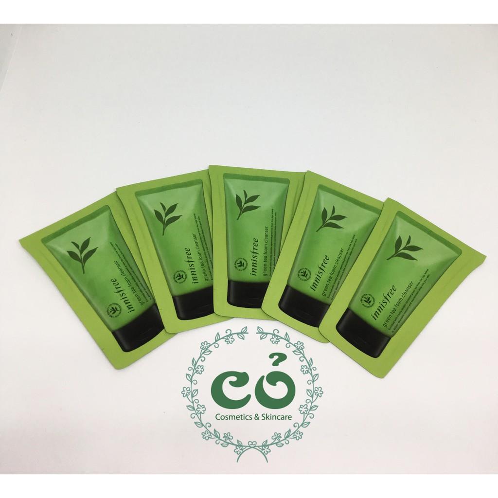 Sample sữa rửa mặt Innisfree Green Tea Cleansing Foam (gói 3ml) - 2449262 , 1141264122 , 322_1141264122 , 16000 , Sample-sua-rua-mat-Innisfree-Green-Tea-Cleansing-Foam-goi-3ml-322_1141264122 , shopee.vn , Sample sữa rửa mặt Innisfree Green Tea Cleansing Foam (gói 3ml)