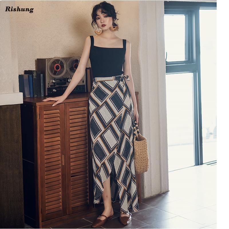 2331351773 - Chân váy dài kiểu dáng retro đơn giản thời trang cho nữ