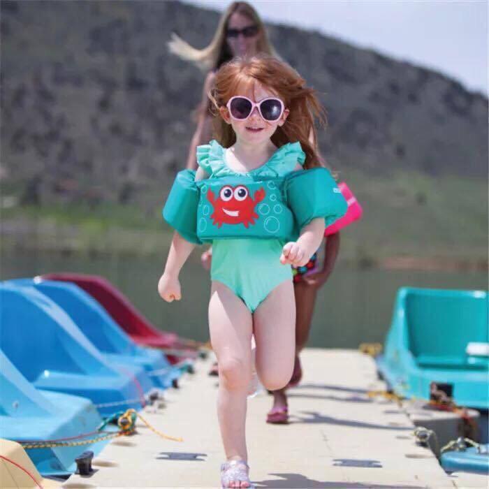 Bộ áo phao bơi hoạt hình đeo tay và thân trên cho bé 2-8 tuổi