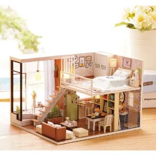 Mô hình nhà gỗ DIY Biệt thự Thành phố 3