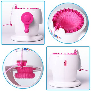 DIY Knitting Machine Weaving Loom Toy Applied Rabbit Shape