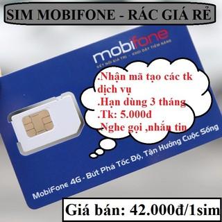 Sim mobifone giá rẻ tạo mã code otp