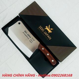 Dao Nhật Bản, SEKI, dao chặt xương, siêu sắc, thép không gỉ, tay cầm bằng gỗ