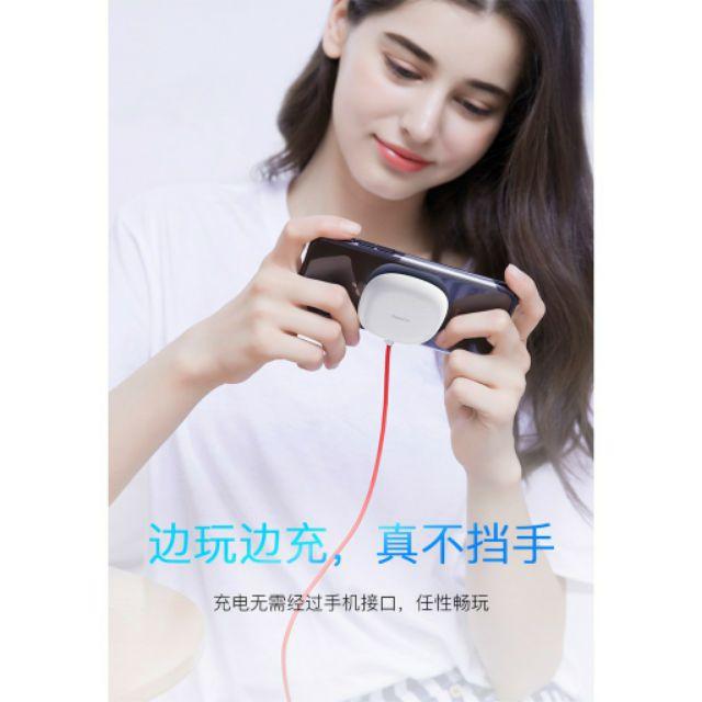 Đế sạc nhanh không dây hút điện thoại baseus hỗ trợ chơi game.