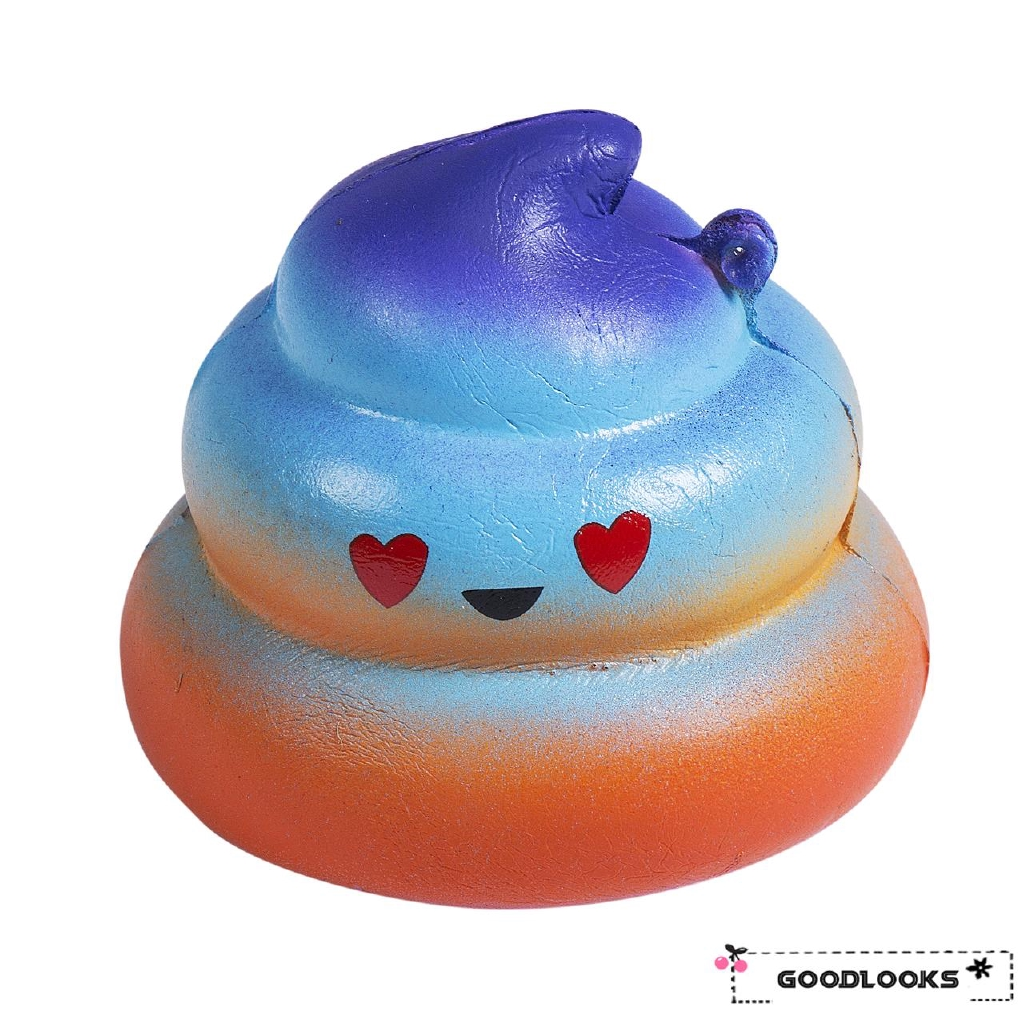 HGL♪Jumbo Colossal Squishy Rainbow Poo Scented Super Slow Rising Food Kid Toy