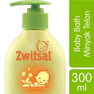 Zwitsal Baby Bath Natural dengan Minyak Telon Pump 300ml