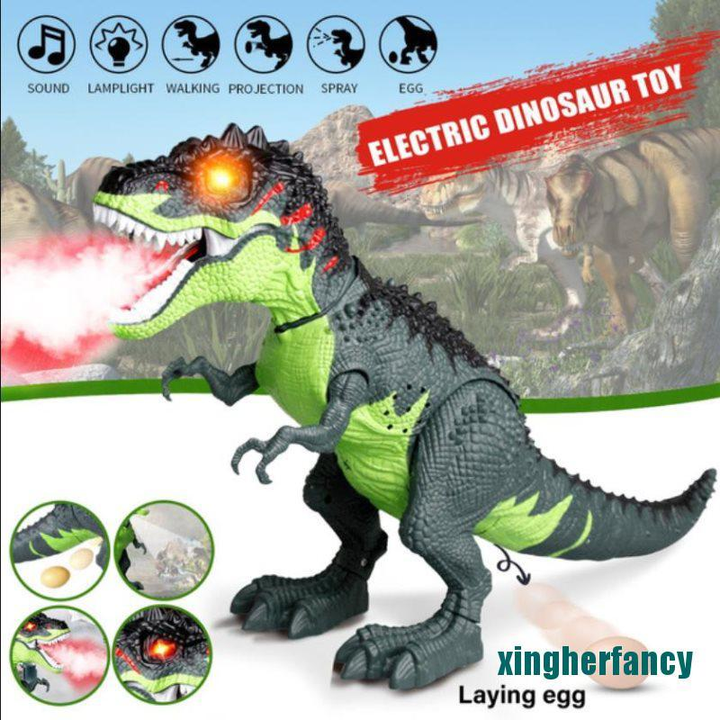 XYCC Electric Dinosaurs Tyrannosaurus Rex Simulation Walking Light Sounds Animal Toys XJSS