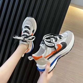 Màu Đen Giày Nữ Mùa Hè Lưới Chiên Đường Phố2021Đáy Dày Mai Giày Thể Thao Mô Hình Vụ Nổ Móc Forrest Gump Nữ Mỏng thumbnail