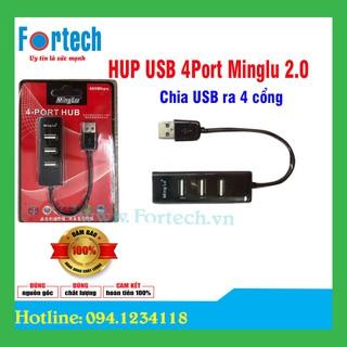 Bộ chia cổng USB 2.0 1 ra 4 cổng Minglu - 4 cổng USB 2.0 thumbnail