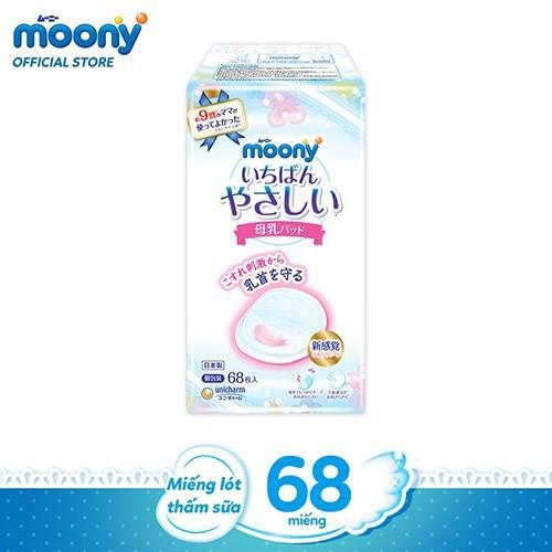 Hình ảnh Miếng lót thấm sữa Moony (68 miếng/ 1 bịch) - Nhập khẩu từ Nhật Bản-0