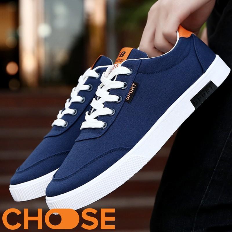 Giày Nam Giày Vải Thể Thao Nam Giày Sneaker Lười Bata màu trắng GK6K3