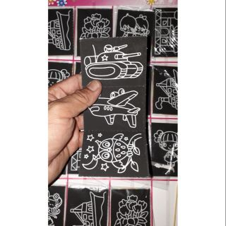 Set 20 túi có 160 tờ hình vẽ đen