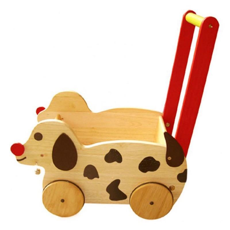 Xe chó chở đồ chơi – Tặng tranh ghép gỗ nổi siêu xinh