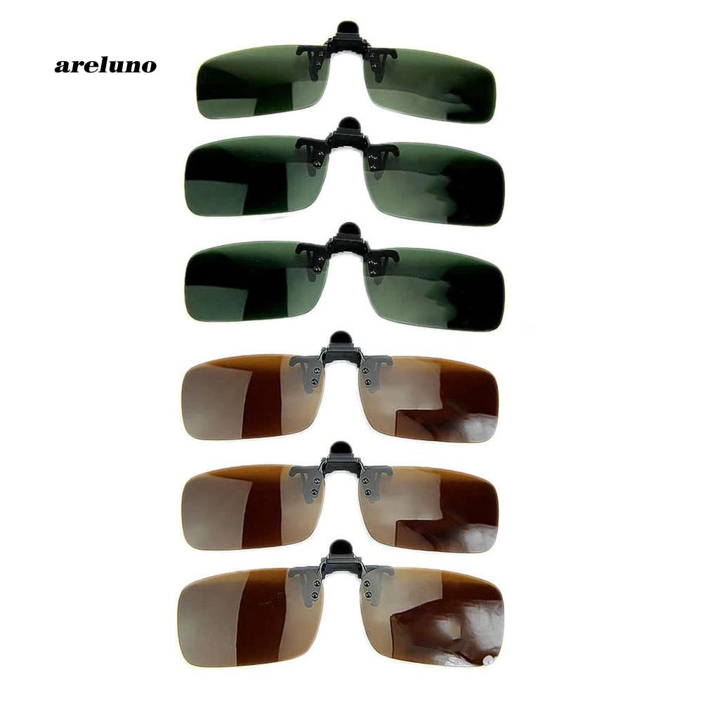 ARLO_Polarized Lens Anti Glare UV Block Clip-on Flip-up Sunglasses Driving Glasses