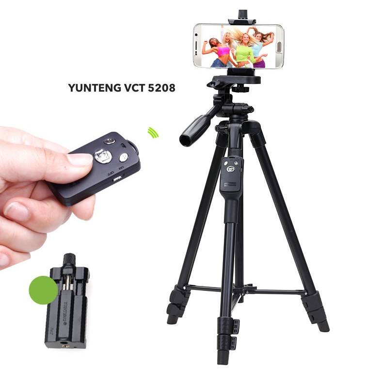 Bộ Chân máy ảnh và remote YUNTENG VCT 5208
