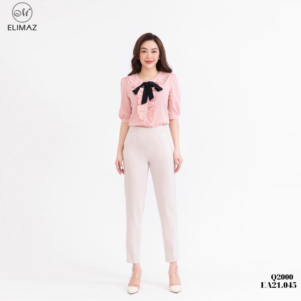 Mặc gì đẹp: Sang trọng với [Thiết kế mới 2021] Quần tây âu công sở nữ lưng cao Elimaz, khoá sườn chất vải dày dặn co giãn không bai xù Q2000