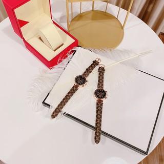 Đồng hồ nữ L.VT nữ dây da nâu kiểu dáng sang trọng, chống nước , bảo hành 12 tháng.tặng kèm pin dự phòng