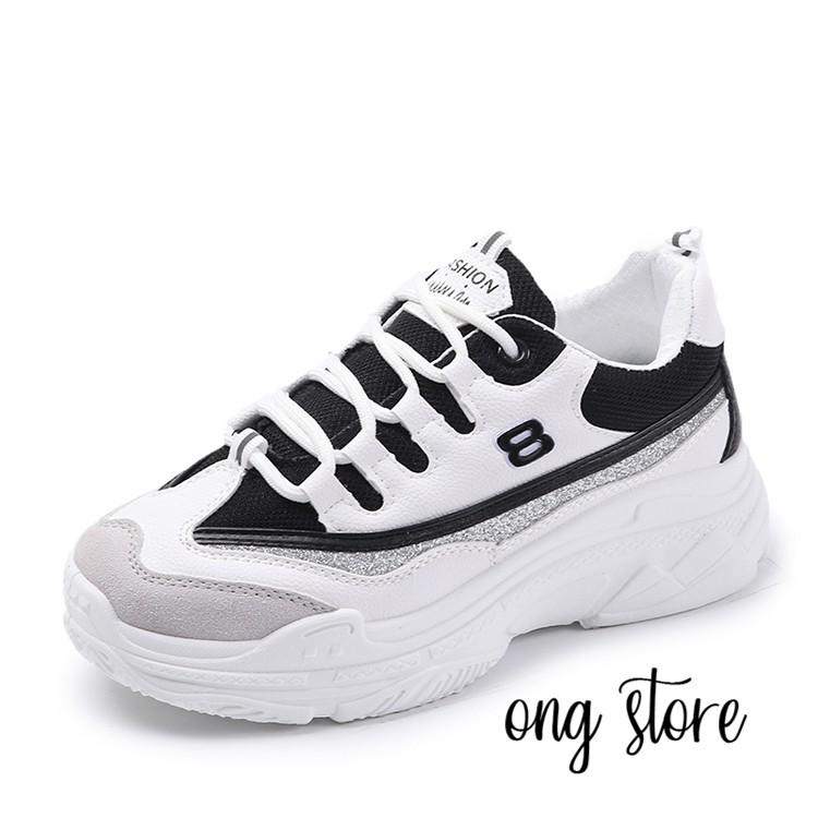 (freeship toàn quốc) Giày thể thao nữ đế cao phong cách Hàn Quốc trắng đen - 3390493 , 1316849753 , 322_1316849753 , 190000 , freeship-toan-quoc-Giay-the-thao-nu-de-cao-phong-cach-Han-Quoc-trang-den-322_1316849753 , shopee.vn , (freeship toàn quốc) Giày thể thao nữ đế cao phong cách Hàn Quốc trắng đen