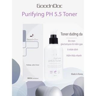 [CHÍNH HÃNG] Nước hoa hồng, Toner dưỡng trắng, mờ thâm nám, chống lão hóa,dưỡng ẩm làm sạch da GoodnDoc Purifying pH 5.5