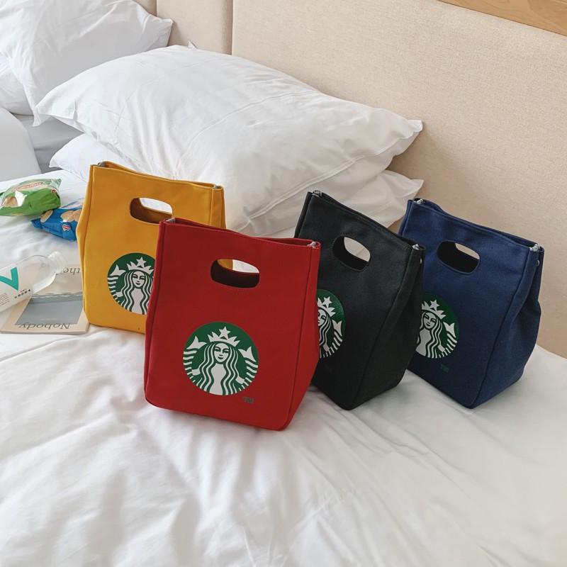 Túi vải canvas cầm tay phong cách Nhật Hàn 2020 dễ thương