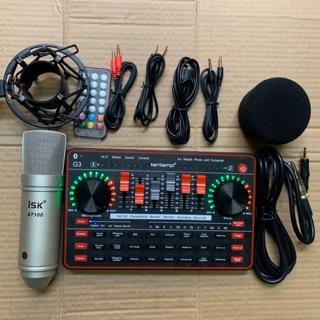 Combo thu âm livestream isk AT100-Sound card G3 kèm phụ kiện và dây kết nối bh 12 tháng