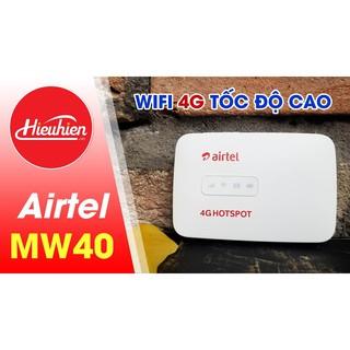 Cục phát WIFI 4G LTE Hotspot Airtel MW40 tốc độ cao 150 Mbps 15 kết nối cùng lúc pin 1800 mAh thumbnail