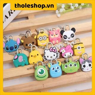 Ổ khóa mini Ổ Khóa Mini Hình Thú Dễ Thương, chuyên dùng khóa balo, vali, túi xách, khóa chắc chắn thumbnail