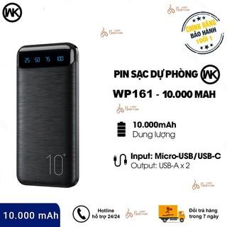 Pin Sạc Dự Phòng Chi nh Ha ng WK WP-161 Dung lượng Pin 10000mAh, 2 cổng sạc USB - Ba o Ha nh Chi nh Ha ng 12 Tha ng thumbnail