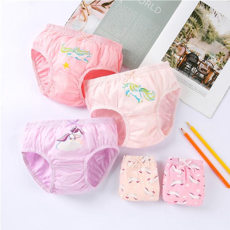 Quần lót bé gái, Set 5 chiếc Quần chíp bé gái tam giác kháng khuẩn 100% Cotton Xuất Hàn Quốc dành cho bé gái từ HT07