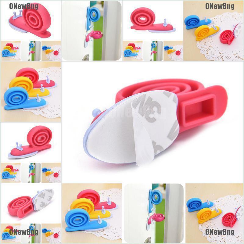 ONewBng✪ Plastic Baby Safety Door Stopper Protector Children Safe Snail Shape Door Stops