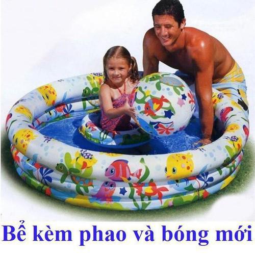 [Sale 50%] BỂ PHAO INTEX 3 CHI TIẾT TẶNG KÈM PHAO CỔ VÀ BÓNG [Buôn/sỉ]