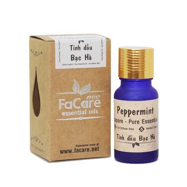 Tinh dầu thiên nhiên Facare 10ml (Bạc Hà - Cam Ngọt - Sả Java - Tràm Gió - Sả Chanh)