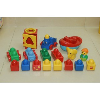 90% Set 17 khối Lego Basics cho bé 6-36 tháng