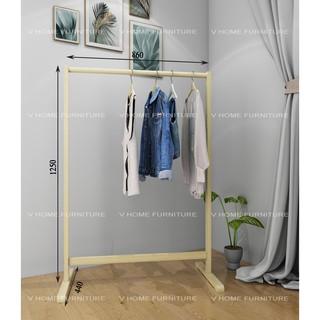 Giá , kệ gỗ treo quần áo thanh đơn – Size M