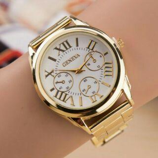 Saleoff Đồng hồ nam dây kim loai Geneva thời trang