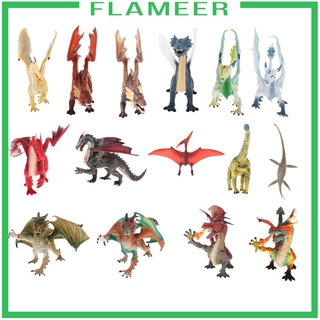 [FLAMEER] Plastic Educational Learn Animals Models Toys Dragon Action Figure Model