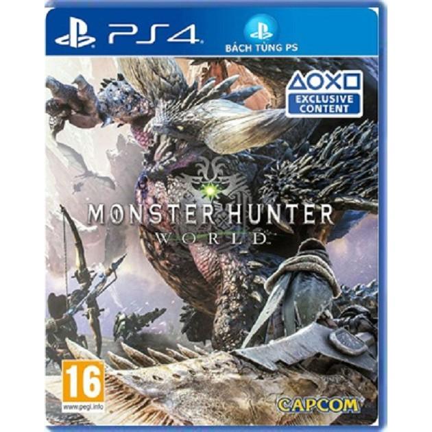 Đĩa game PS4: Monster Hunter World