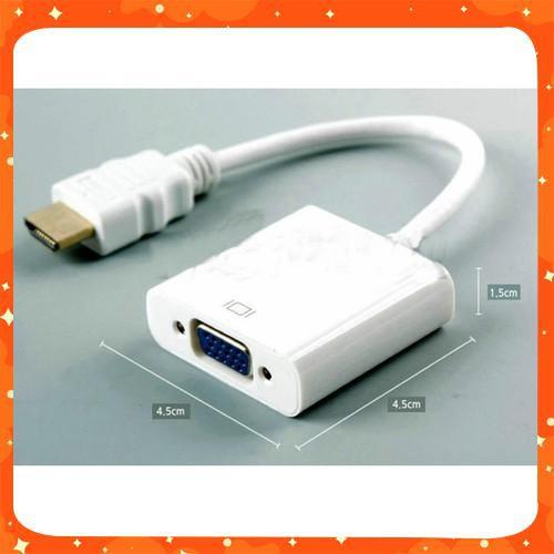 HÀNG HOT Dây Cáp chuyển đổi HDMI sang VGA HDMI To VGA Adapter (Đen) MỚI VỀ Giá chỉ 206.100₫