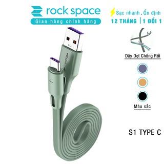 Cáp sạc Samsunng Rockspace S1 chuẩn kết nối typeC, dây dẹt chống dối, sạc nhanh, ổn định, không nóng máy, BH 12 tháng