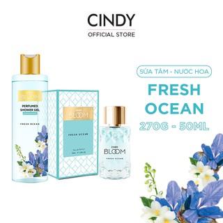 Combo Sữa Tắm Nước Hoa 270g & Nước Hoa 50ml Cindy Bloom Fresh Ocean thumbnail