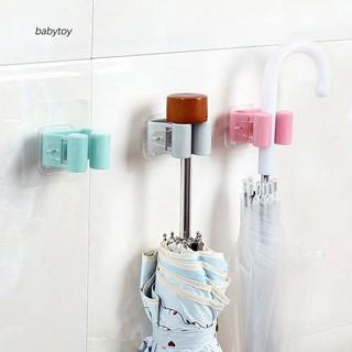 Kẹp treo dụng cụ vệ sinh và chổi lau nhà, kẹp treo đồ gia dụng dán tường đa năng