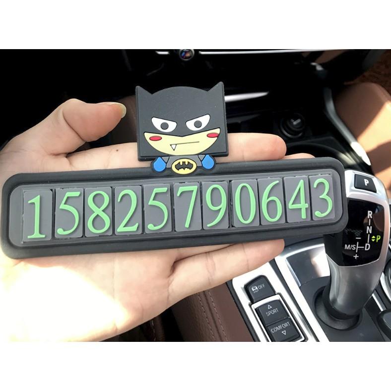 Thanh ghi số điện thoại phản quang trên ô tô siêu cute