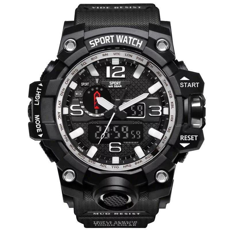 Đồng Hồ Sport Watch Thể Thao Dây Silicon Cao Cấp - LE8202 Đồng hồ kim-điện tử