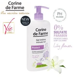 Gel vệ sinh phụ nữ Corine De Farme Intimate gel Protect 250ml Làm Sạch Và Giảm Cảm Giác Khó Chịu Vùng Kín 1