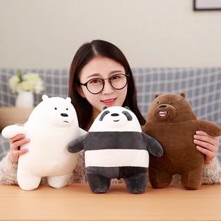 ❤❤1pc 30cm bears plush toy stuffed gray white bear panda doll for birthday