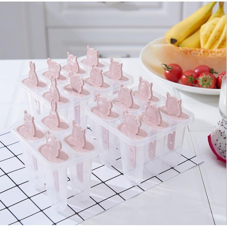 Khuôn làm kem 8 ngăn liền