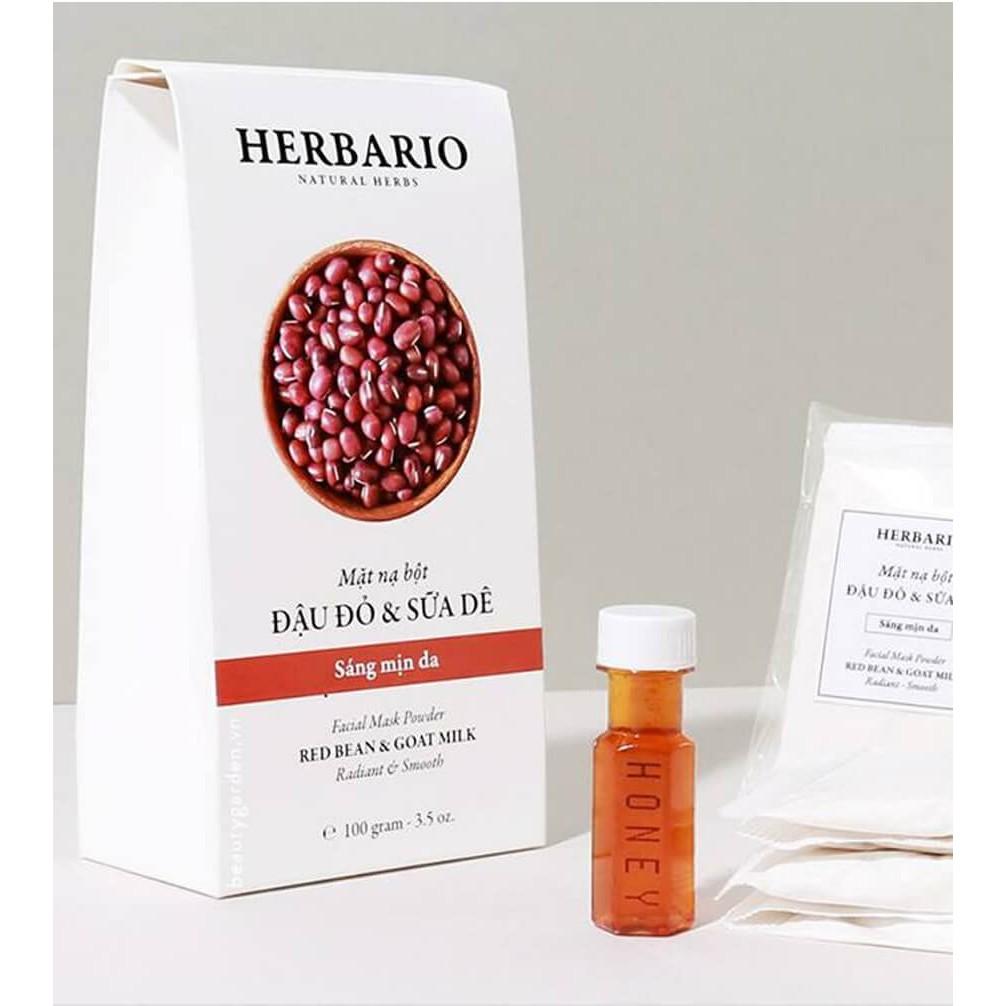 [Tặng mật ong] Bột đậu đỏ sữa dê Herbario 100gr sáng mịn da